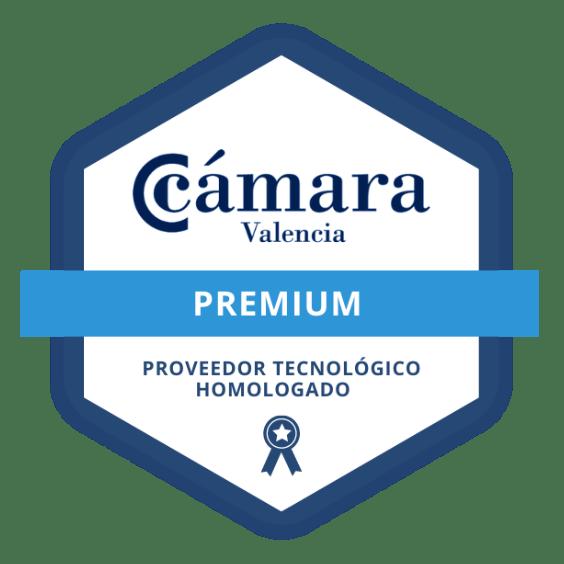Logo proveedor tecnológico homologado de la Cámara de Valencia